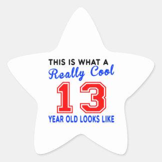 Refresque realmente 13 colcomanias forma de estrellaes