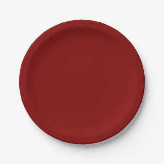 Refresque solamente el fondo del color sólido del plato de papel 17,78 cm