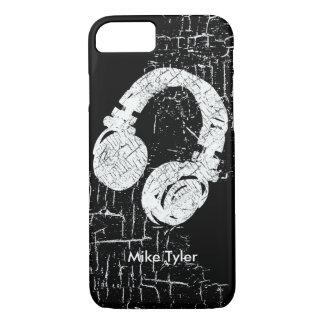 refresqúese para el disc jockey - un auricular de funda iPhone 7