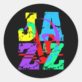 Refresqúese y jazz de la cadera etiqueta redonda