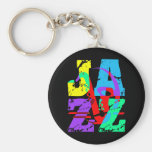 Refresqúese y jazz de la cadera llavero redondo tipo pin