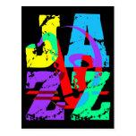 Refresqúese y jazz de la cadera postales