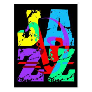 Refresqúese y jazz de la cadera postal