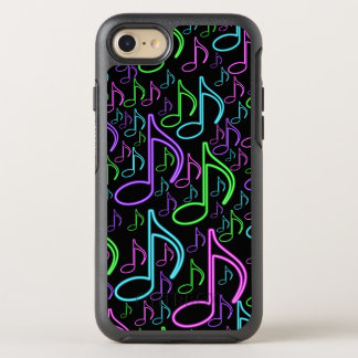 Refresqúese y modelo de neón brillante de la nota funda OtterBox symmetry para iPhone 7