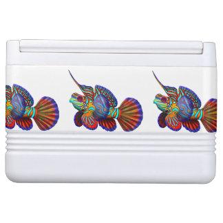 Refrigerador colorido de los pescados del mandarín hielera igloo