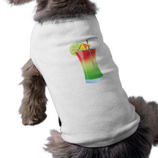 Refrigerador de la cal de la fresa playera sin mangas para perro