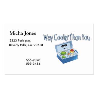 Refrigerador de la manera que usted tarjetas de visita