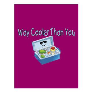 Refrigerador de la manera que usted tarjeta postal