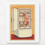 Refrigerador de la obra clásica del vintage del ki alfombrilla de raton