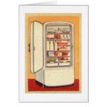 Refrigerador de la obra clásica del vintage del ki tarjeton
