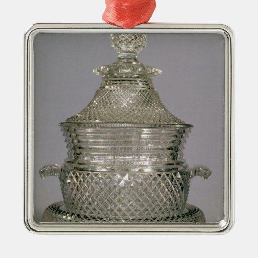 Refrigerador de vino, c.1815-20 adorno navideño cuadrado de metal
