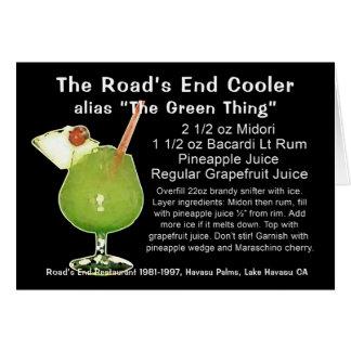 Refrigerador del extremo del camino, alias la cosa tarjeta de felicitación