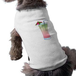 Refrigerador del kiwi de la fresa playera sin mangas para perro