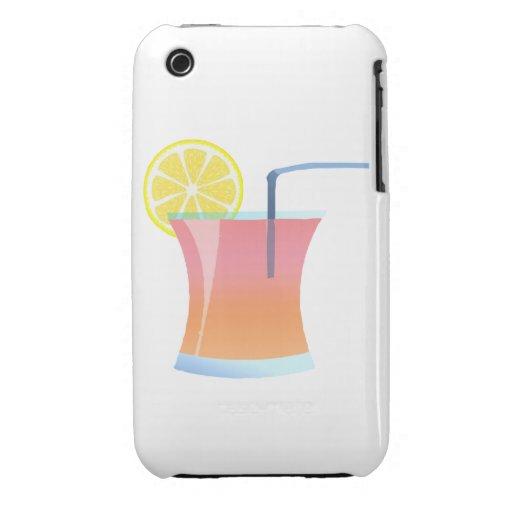 Refrigerador del limón de la salida del sol iPhone 3 Case-Mate cárcasa