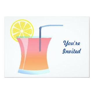 """Refrigerador del limón de la salida del sol invitación 5"""" x 7"""""""