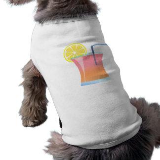 Refrigerador del limón de la salida del sol playera sin mangas para perro