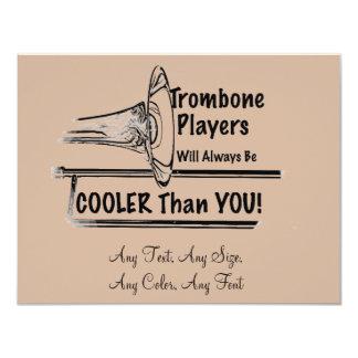 """Refrigerador del músico del Trombone que usted Invitación 4.25"""" X 5.5"""""""
