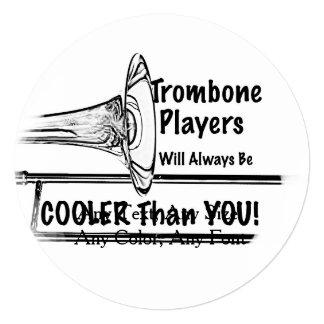 """Refrigerador del músico del Trombone que usted Invitación 5.25"""" X 5.25"""""""