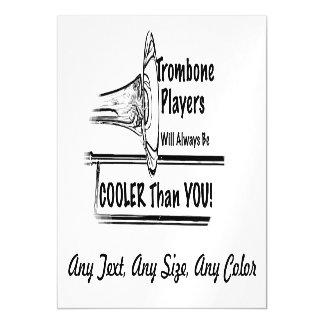 Refrigerador del músico del Trombone que usted Invitaciones Magnéticas