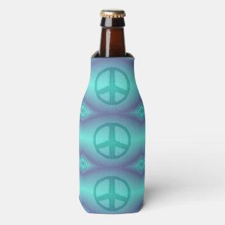 Refrigerador del signo de la paz del efecto del enfriador de botellas