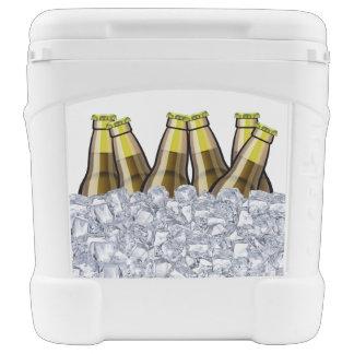 Refrigerador fresco del tema de la cerveza neverita con ruedas