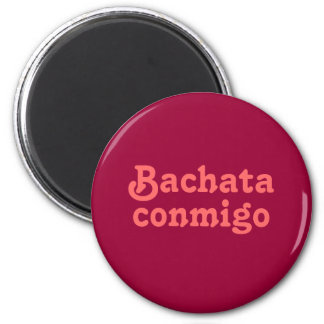 Refrigerador latino del amante del baile de Bachat Imán Redondo 5 Cm