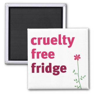 Refrigerador libre de la crueldad - flor imán