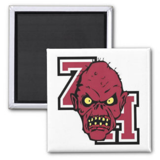 Refrigerador Magent de la horda del zombi Imán Cuadrado