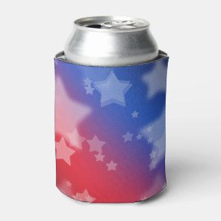 Refrigerador patriótico de las estrellas enfriador de latas