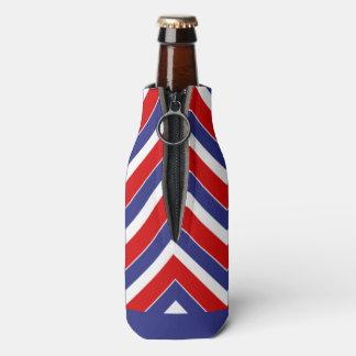 REFRIGERADOR rojo, blanco, azul de la BOTELLA de Enfriador De Botellas