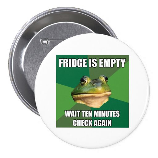 Refrigerador vacío de la rana asquerosa de Bachel Pin Redondo 7 Cm