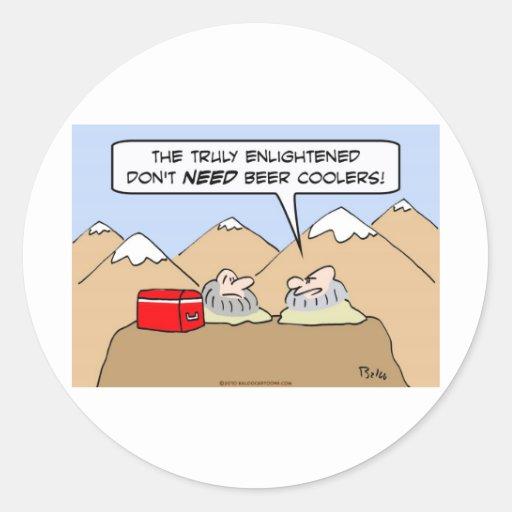 refrigeradores aclarados gurúes de la cerveza de etiqueta redonda