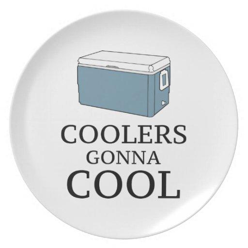 Refrigeradores que van a refrescarse plato