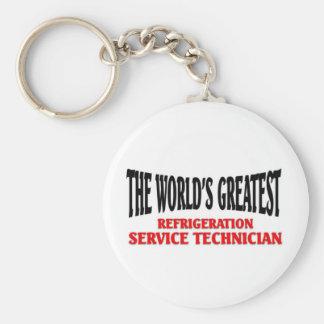 Refrigeration Service Technician Basic Round Button Keychain