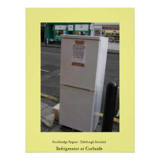 Refrigerator at Curbside Poster