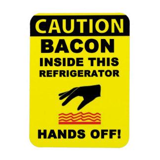 Refrigerator Bacon Security Rectangular Photo Magnet