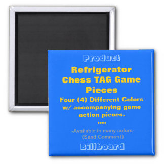 REFRIGERATOR CHESS TAG GAME PIECES MAGNET