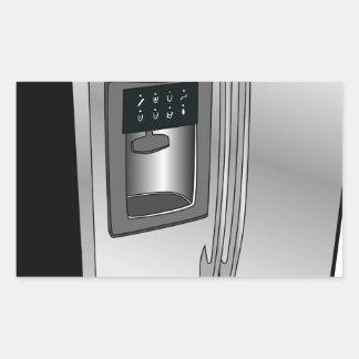 Refrigerator Icon Rectangular Sticker