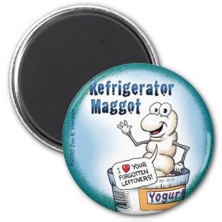 Refrigerator Maggot Magnet; the Round Version