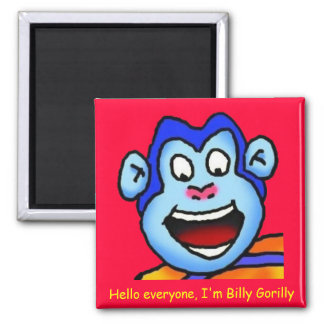Refrigerator Magnet--Billy Gorilly 2 Inch Square Magnet