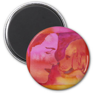 Refrigerator Magnet--Chris Blevins Watercolor 2 Inch Round Magnet