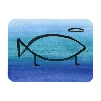 refrigerator magnet Darwin fish with halo