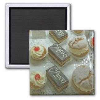 Refrigerator magnet, French Pastries, # 1230 2 Inch Square Magnet