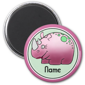 Refrigerator Magnet, Name Template, Cute Rhino Magnet