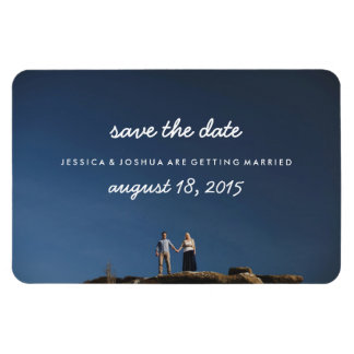 Refrigerator Magnet Photo Save the Date