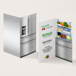 refrigerator nutritionist folded business card