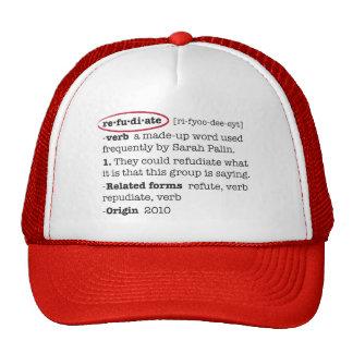 Refudiate Mesh Hats