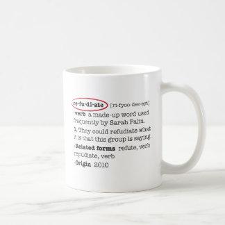 Refudiate Coffee Mugs
