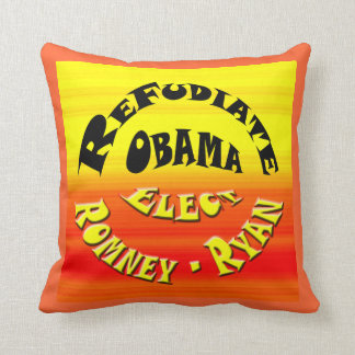 Refudiate Obama - Elect Romney-Ryan Throw Pillow
