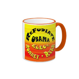 Refudiate Obama - elija Romney - a Ryan Taza De Dos Colores